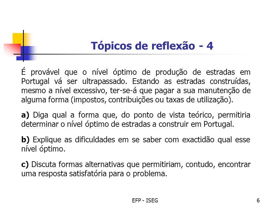 Tópicos de reflexão - 4