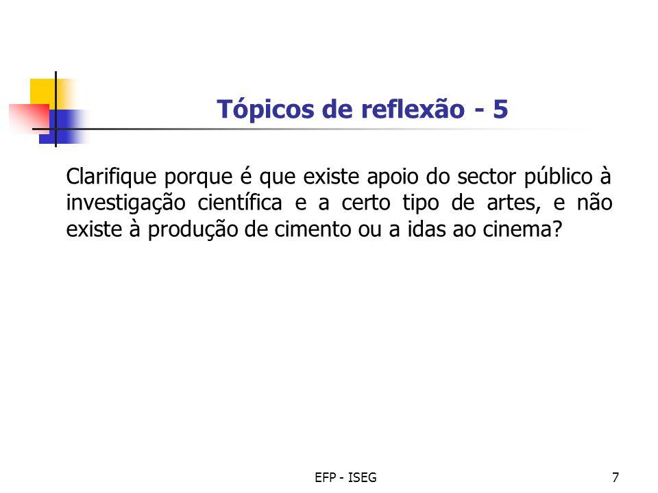 Tópicos de reflexão - 5