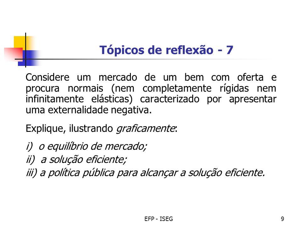 Tópicos de reflexão - 7