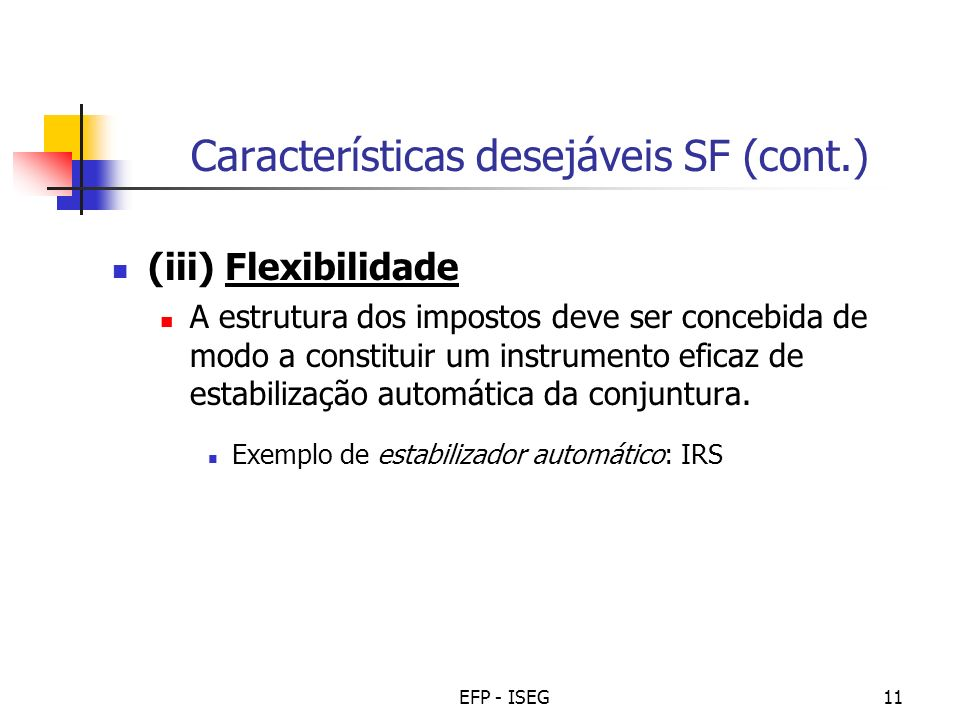Características desejáveis SF (cont.)