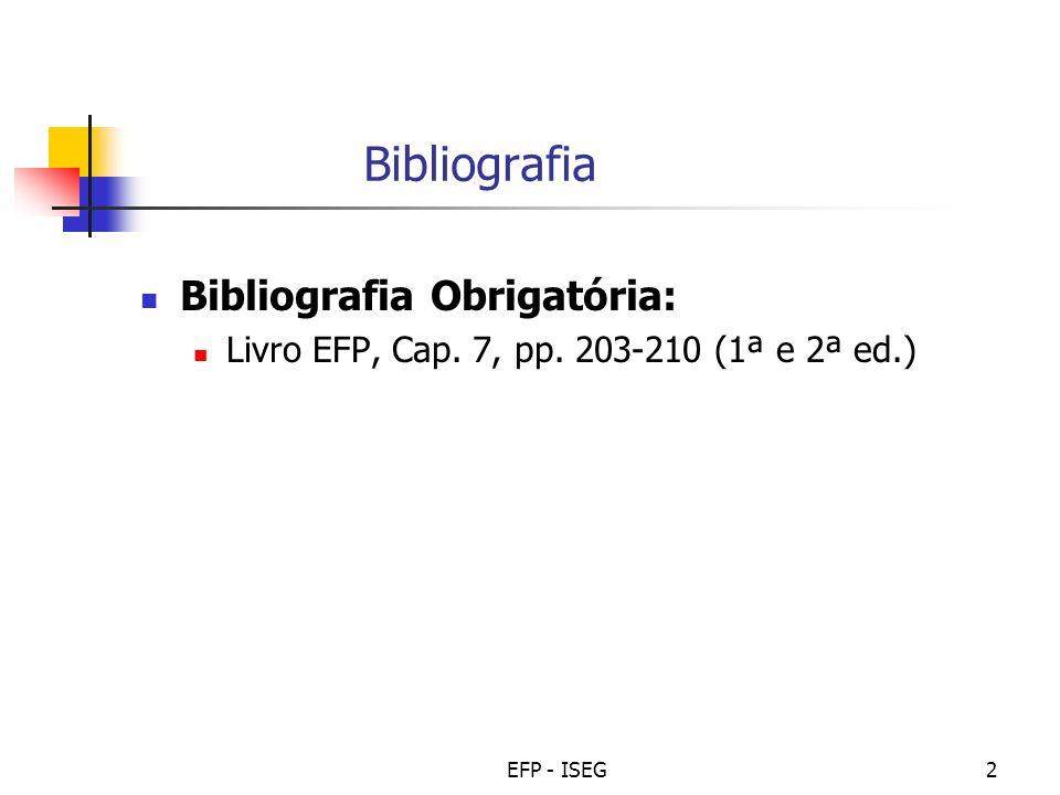 Bibliografia Bibliografia Obrigatória: