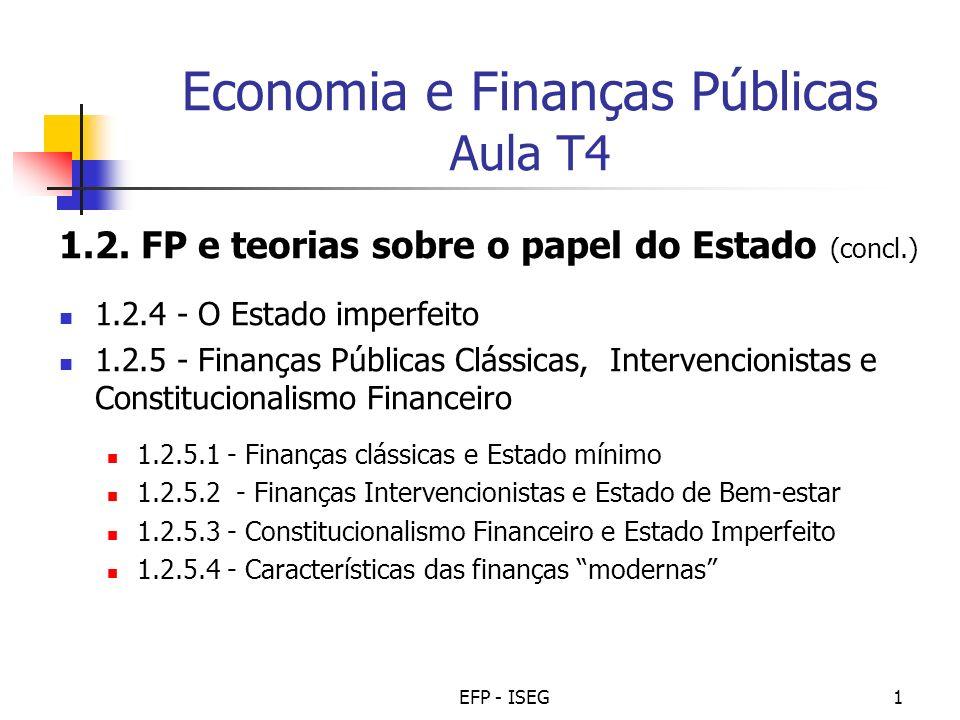 Economia e Finanças Públicas Aula T4