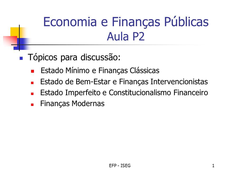 Economia e Finanças Públicas Aula P2