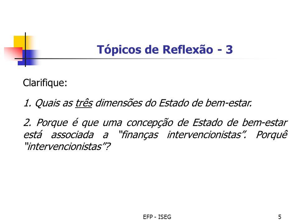 Tópicos de Reflexão - 3 Clarifique: