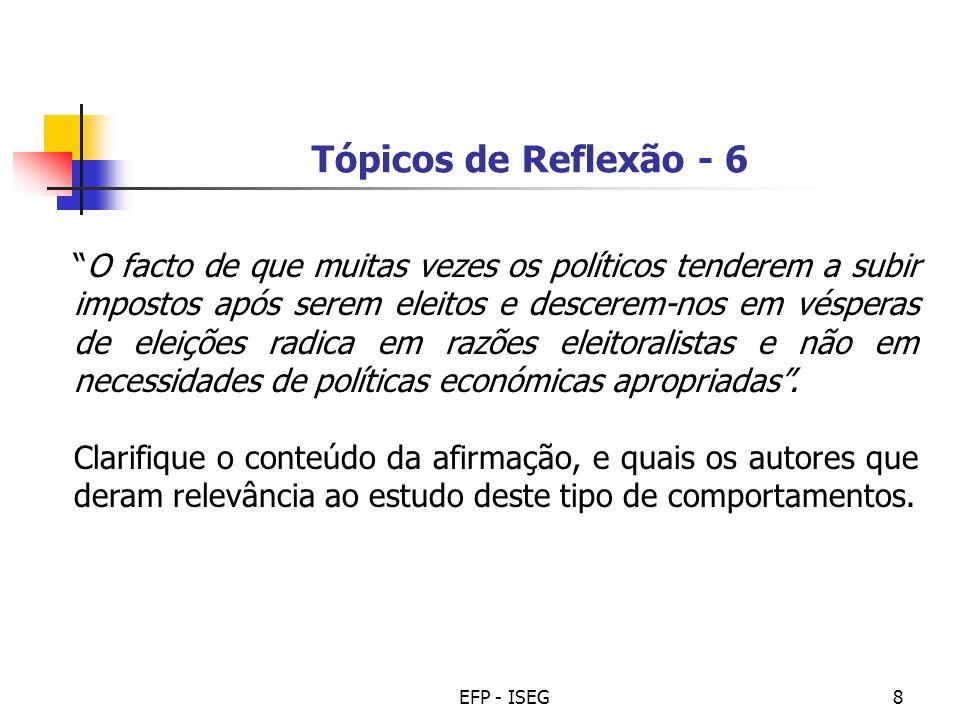 Tópicos de Reflexão - 6