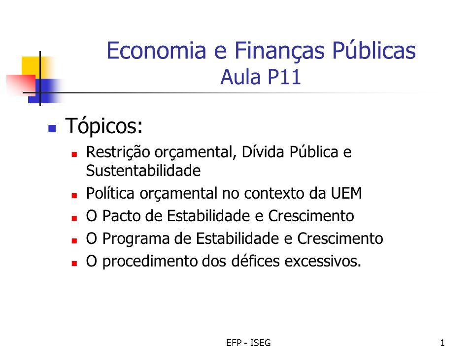 Economia e Finanças Públicas Aula P11