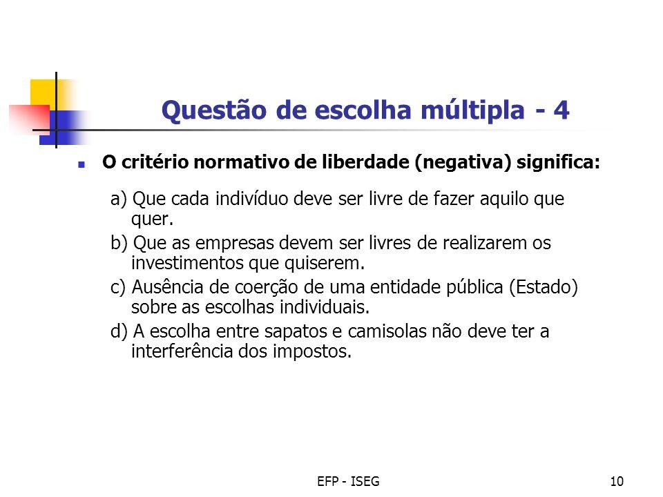 Questão de escolha múltipla - 4