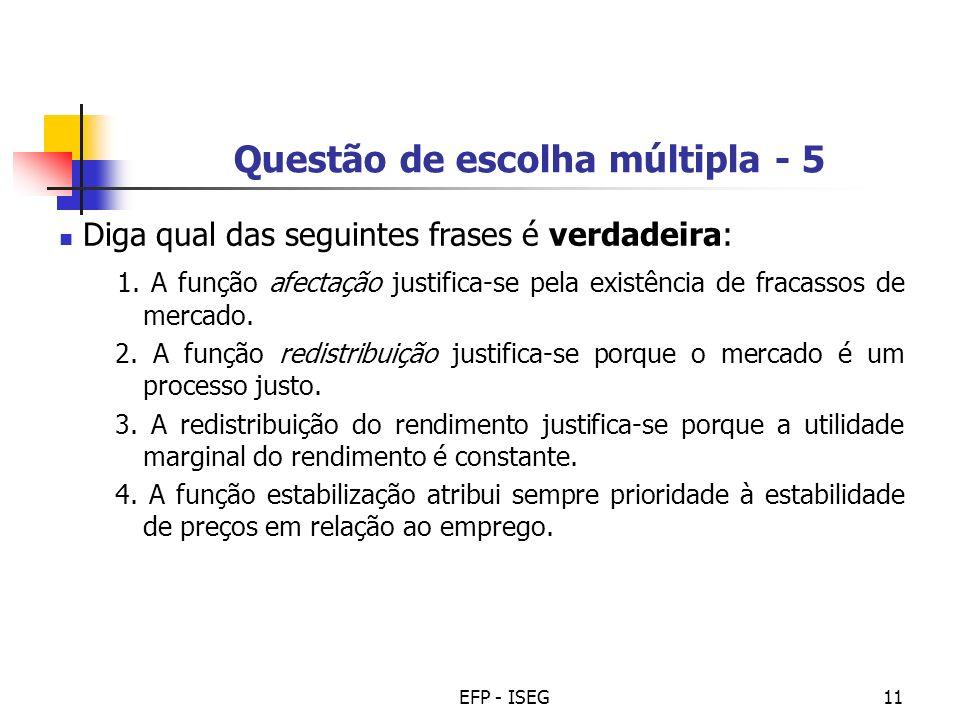 Questão de escolha múltipla - 5
