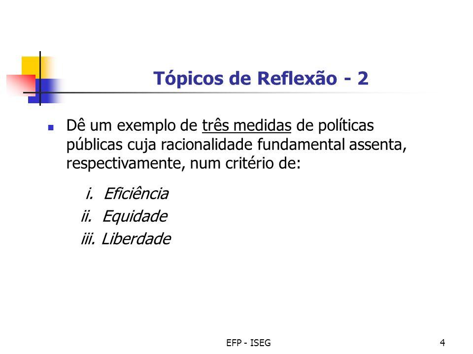 Tópicos de Reflexão - 2
