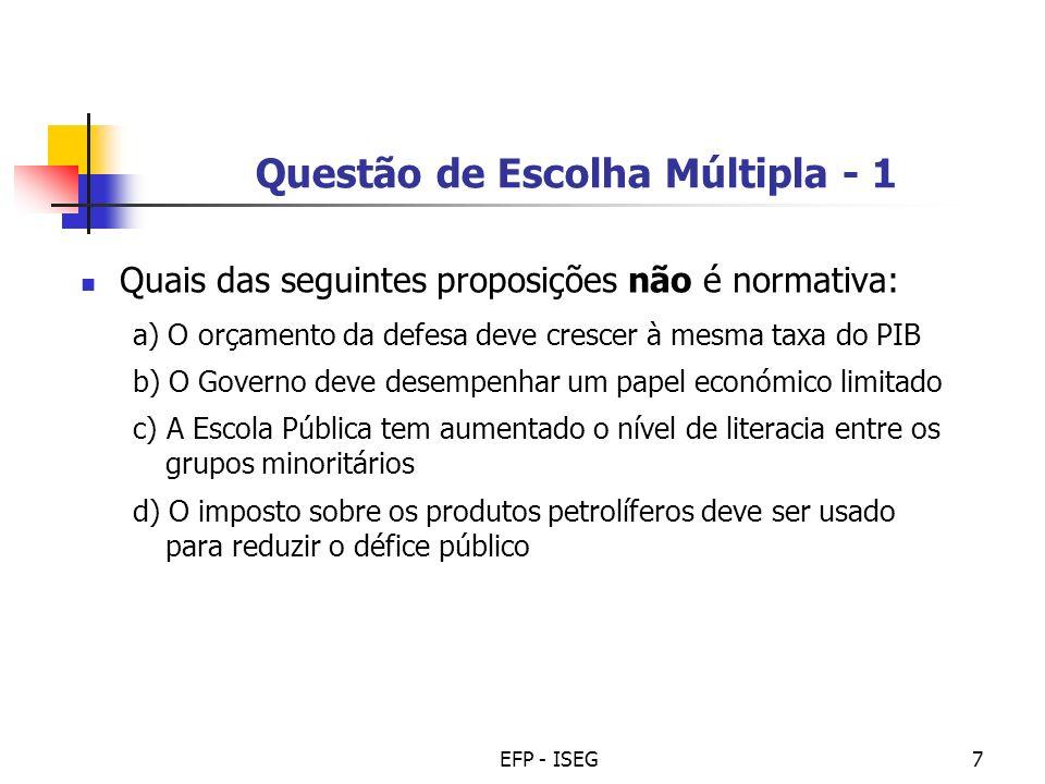 Questão de Escolha Múltipla - 1