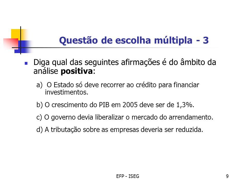 Questão de escolha múltipla - 3