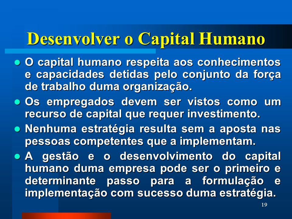 Desenvolver o Capital Humano