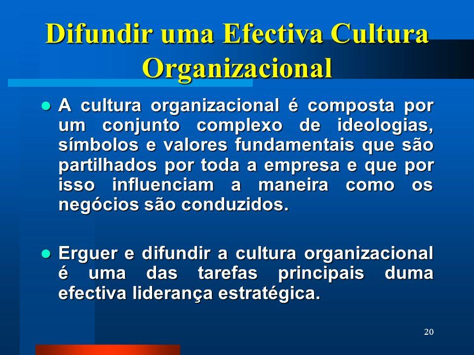 Difundir uma Efectiva Cultura Organizacional