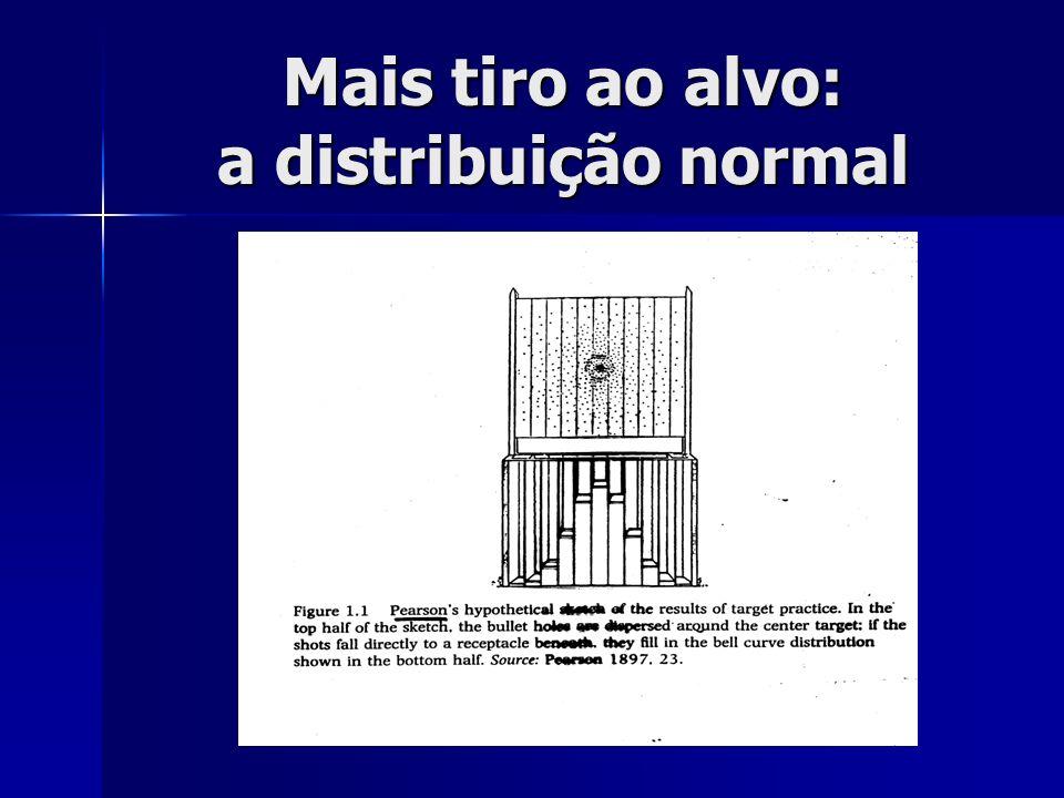 Mais tiro ao alvo: a distribuição normal