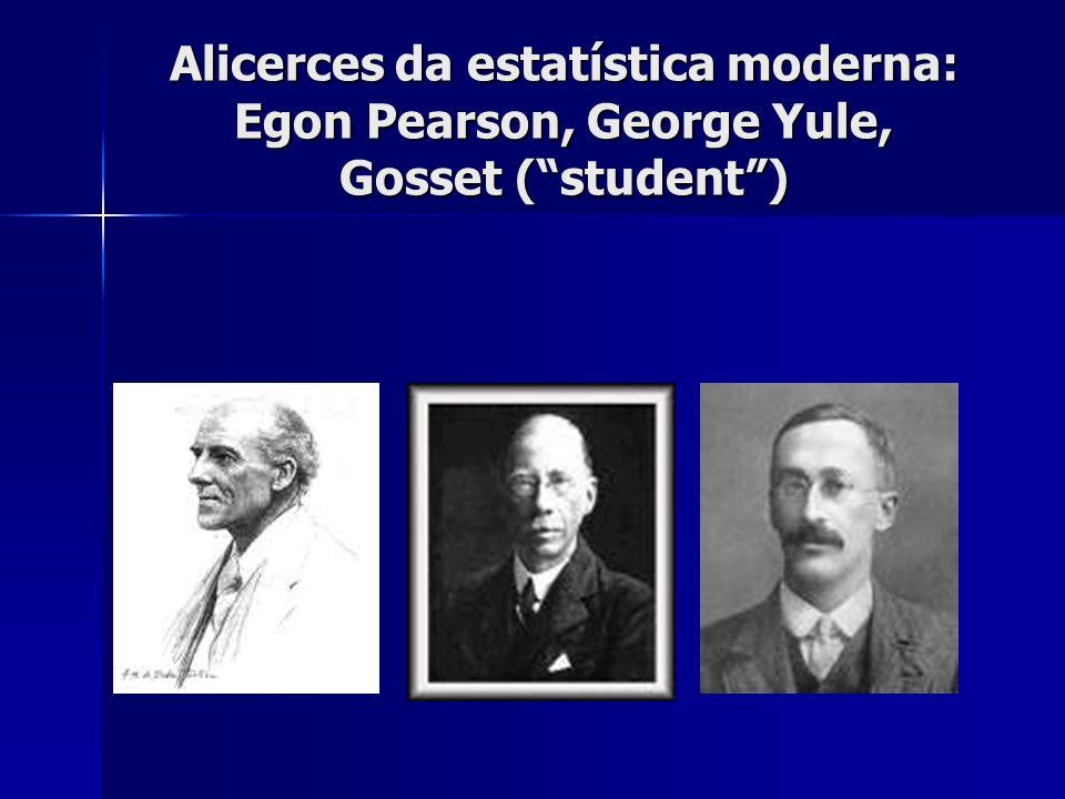Alicerces da estatística moderna: Egon Pearson, George Yule, Gosset ( student )