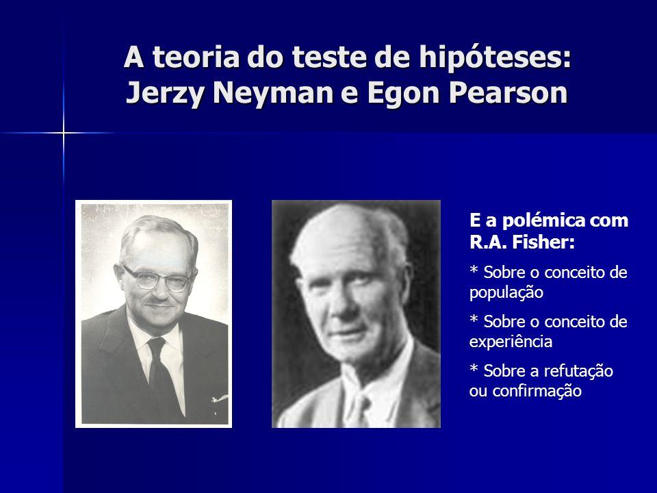 A teoria do teste de hipóteses: Jerzy Neyman e Egon Pearson
