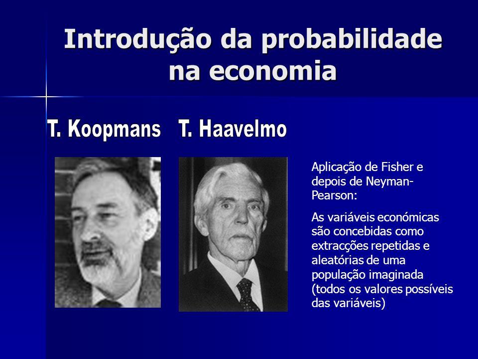 Introdução da probabilidade na economia