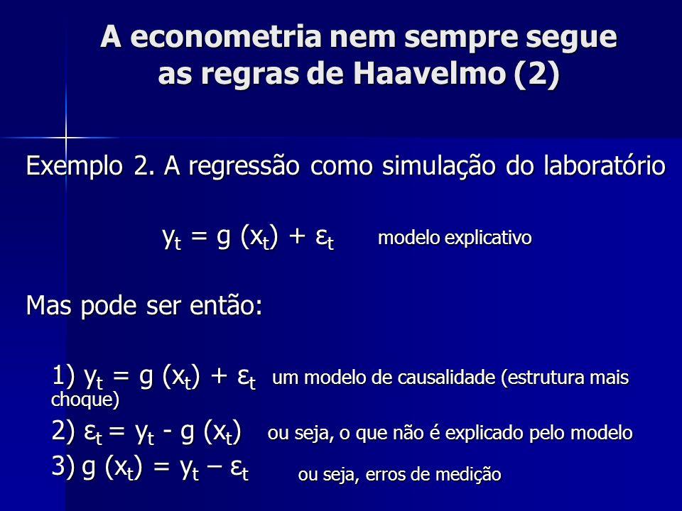 A econometria nem sempre segue as regras de Haavelmo (2)