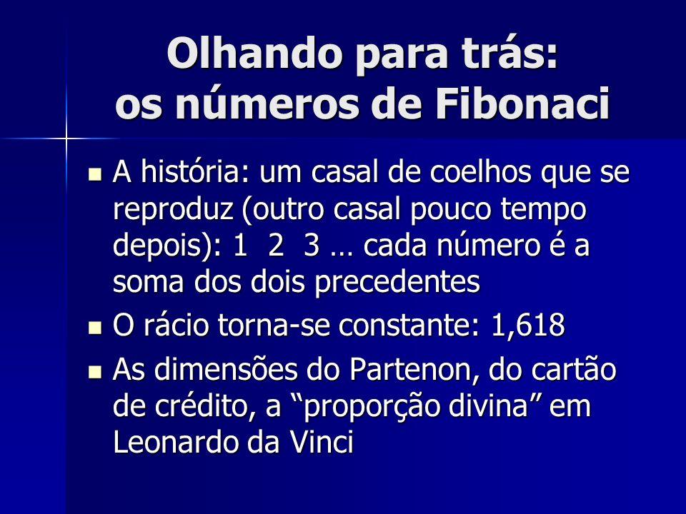 Olhando para trás: os números de Fibonaci