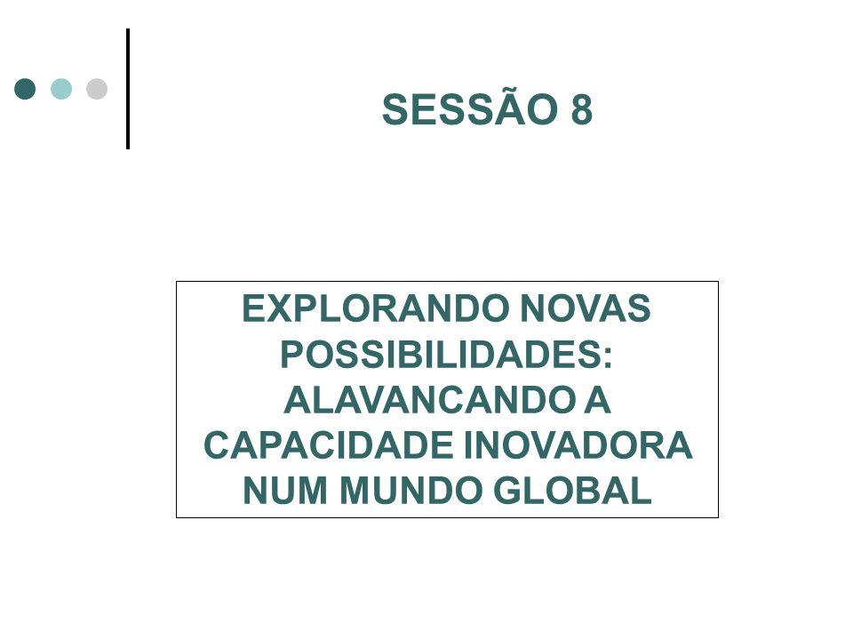 SESSÃO 8 EXPLORANDO NOVAS POSSIBILIDADES: ALAVANCANDO A CAPACIDADE INOVADORA NUM MUNDO GLOBAL