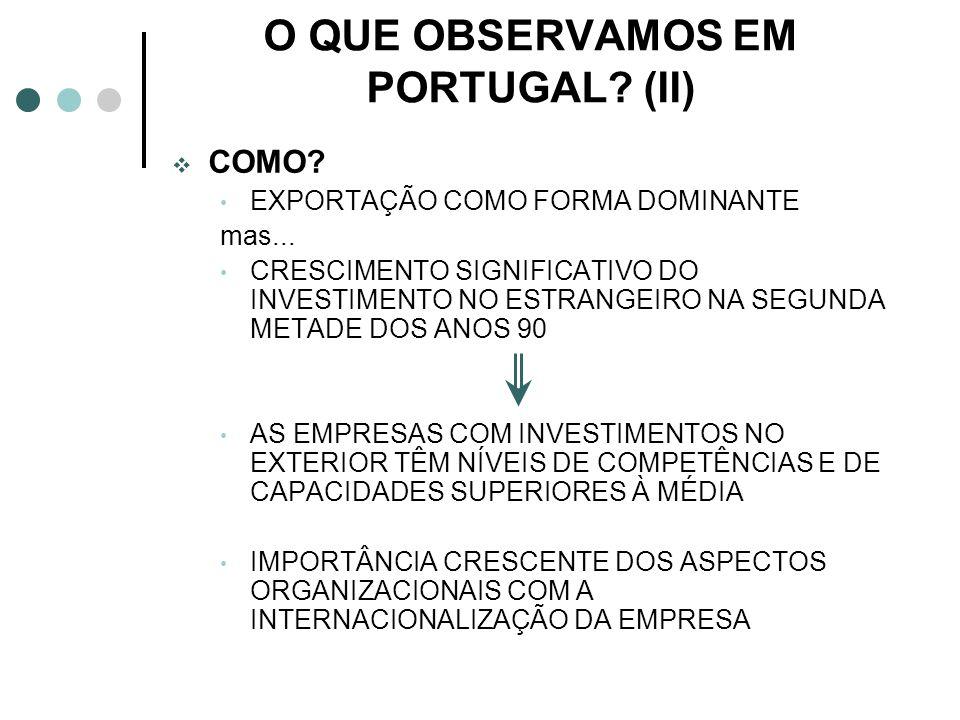 O QUE OBSERVAMOS EM PORTUGAL (II)