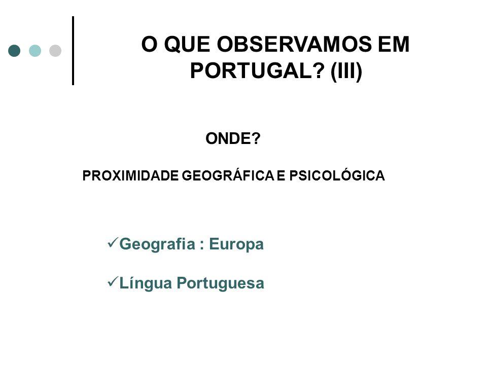 O QUE OBSERVAMOS EM PORTUGAL (III)
