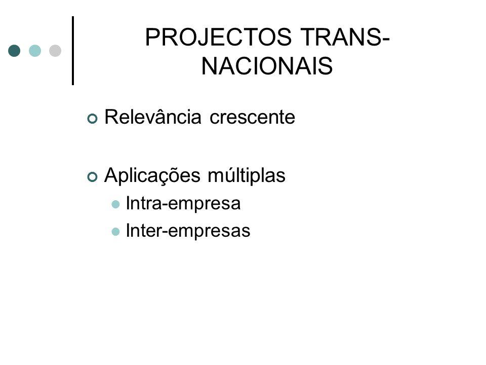 PROJECTOS TRANS-NACIONAIS