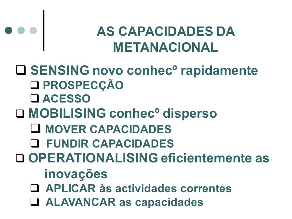 AS CAPACIDADES DA METANACIONAL