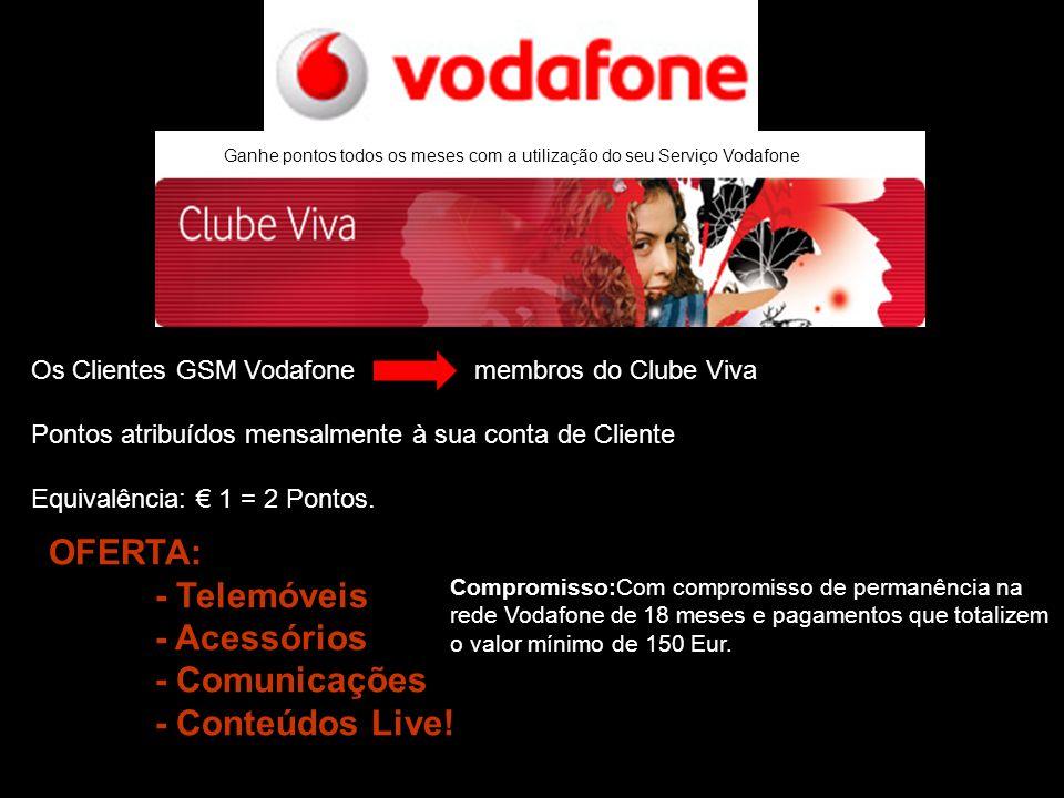 OFERTA: - Telemóveis - Acessórios - Comunicações - Conteúdos Live!