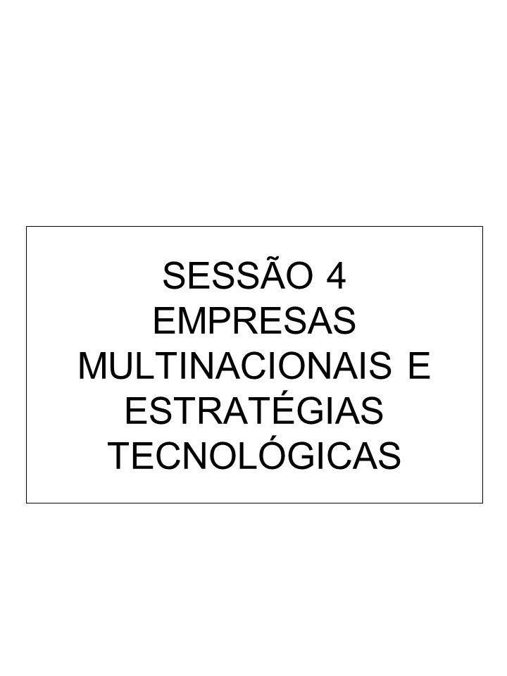 SESSÃO 4 EMPRESAS MULTINACIONAIS E ESTRATÉGIAS TECNOLÓGICAS
