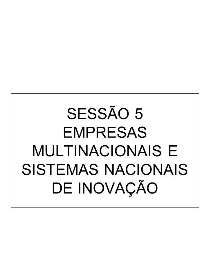 SESSÃO 5 EMPRESAS MULTINACIONAIS E SISTEMAS NACIONAIS DE INOVAÇÃO