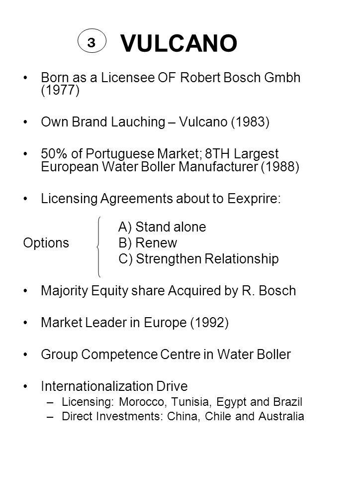 VULCANO 3 Born as a Licensee OF Robert Bosch Gmbh (1977)
