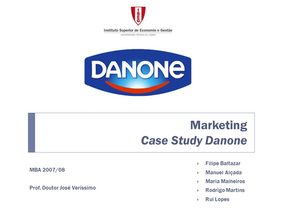 Marketing Case Study Danone