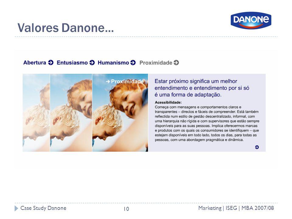 Valores Danone...