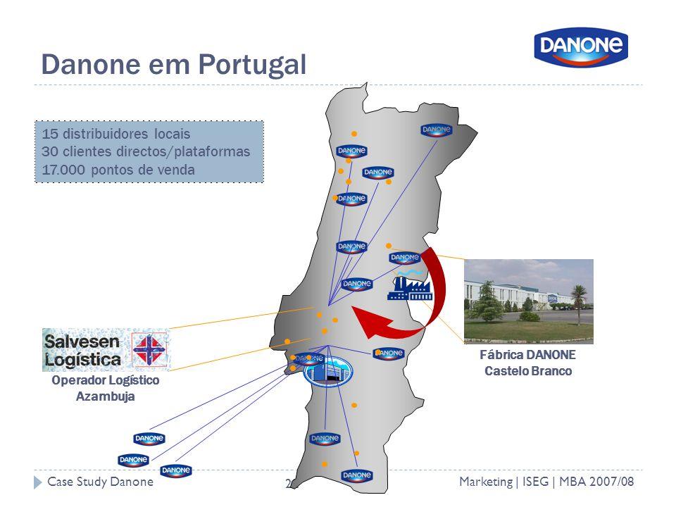 Danone em Portugal 15 distribuidores locais