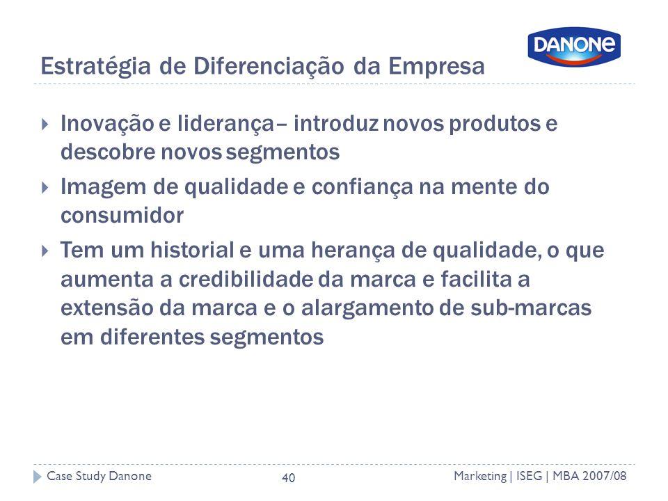 Estratégia de Diferenciação da Empresa