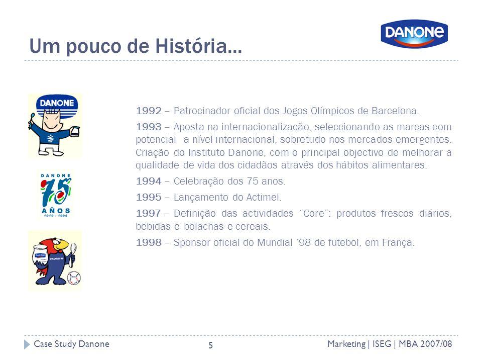 Um pouco de História... 1992 – Patrocinador oficial dos Jogos Olímpicos de Barcelona.