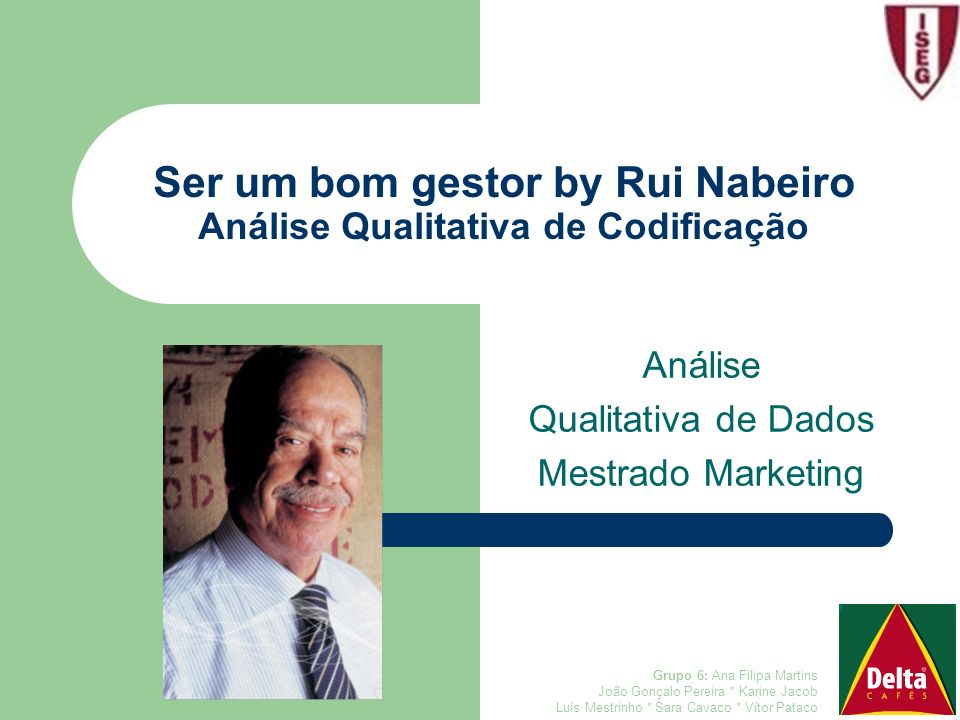 Ser um bom gestor by Rui Nabeiro Análise Qualitativa de Codificação