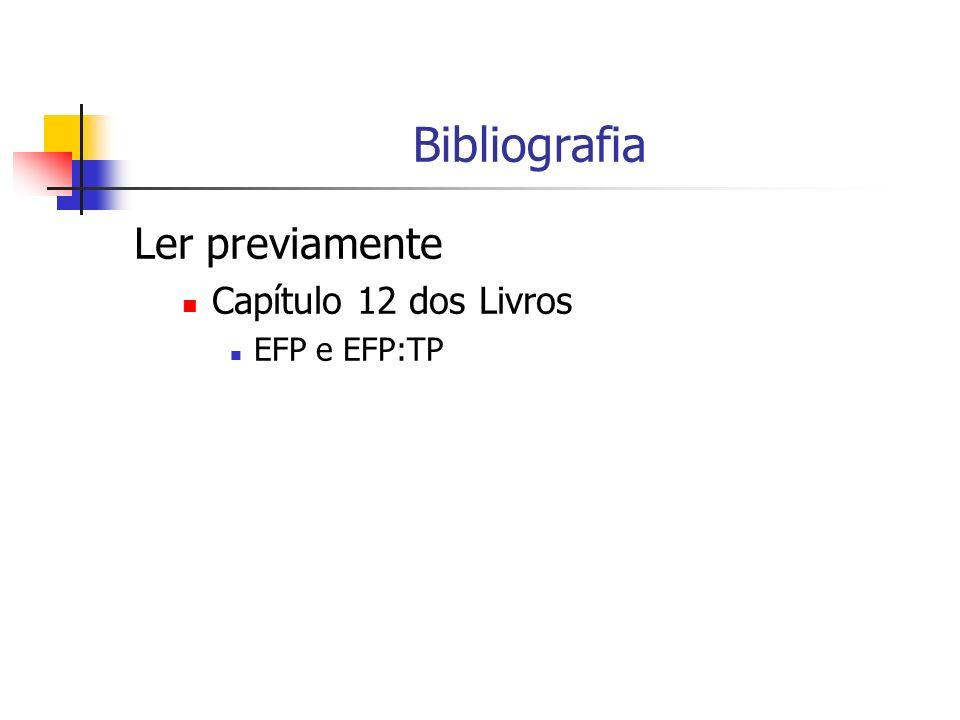 Bibliografia Ler previamente Capítulo 12 dos Livros EFP e EFP:TP