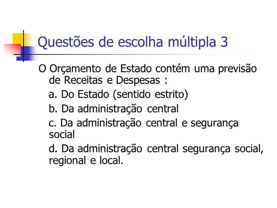 Questões de escolha múltipla 3