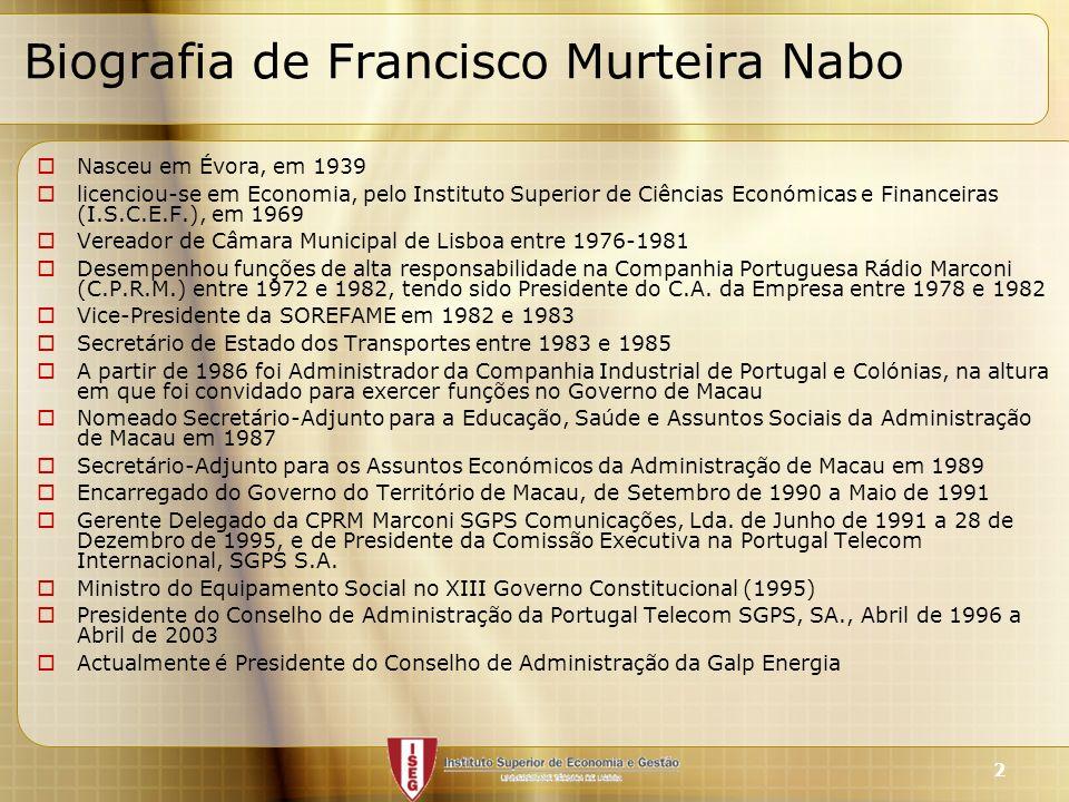 Biografia de Francisco Murteira Nabo