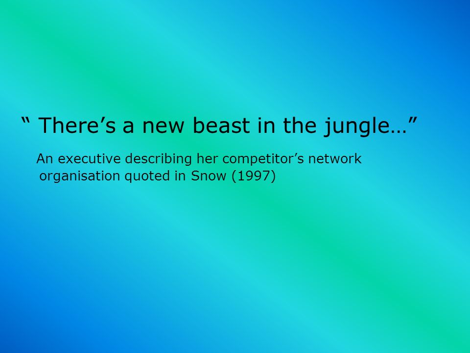 There's a new beast in the jungle…
