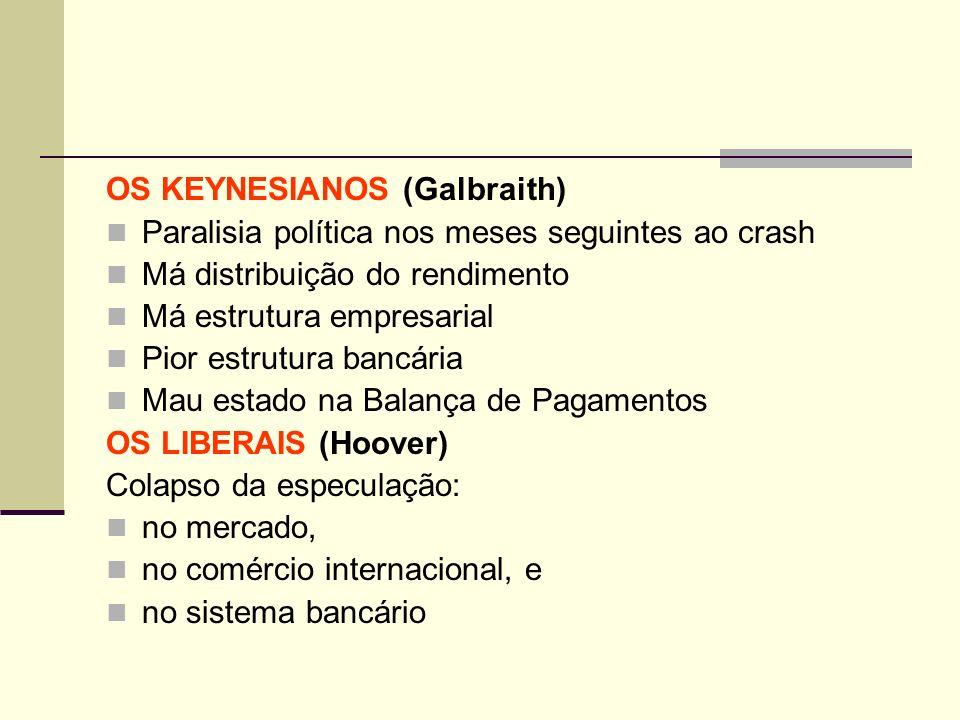 OS KEYNESIANOS (Galbraith)