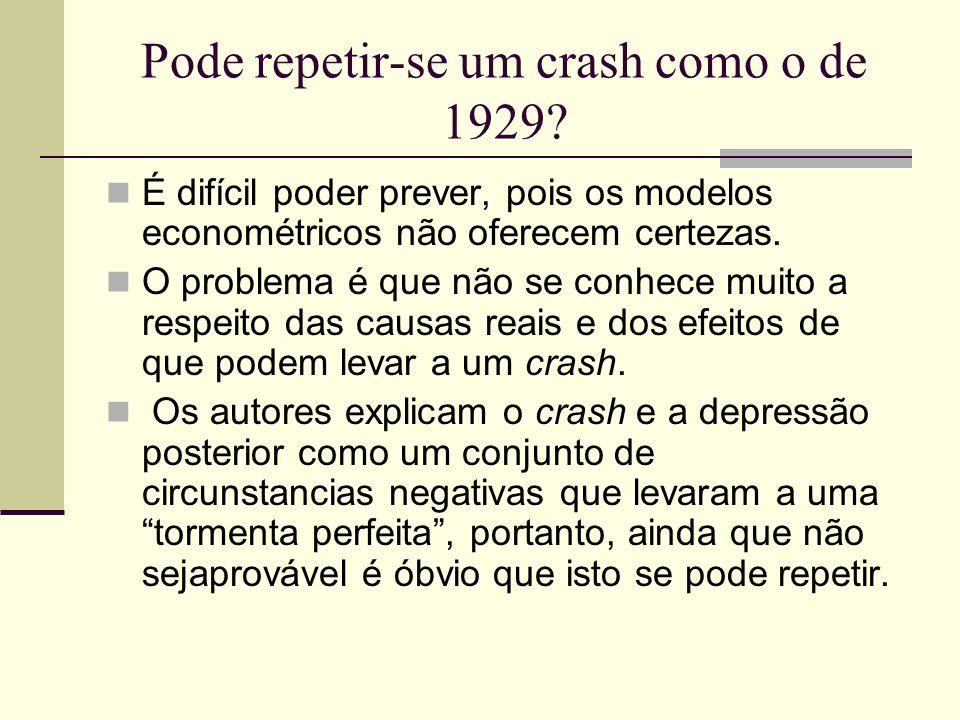 Pode repetir-se um crash como o de 1929