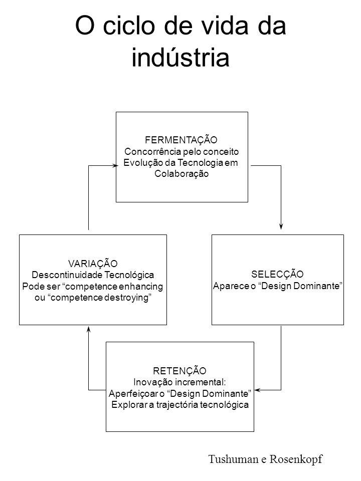 O ciclo de vida da indústria