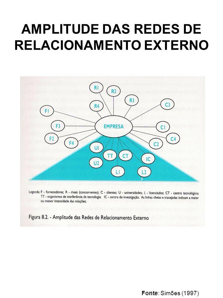 AMPLITUDE DAS REDES DE RELACIONAMENTO EXTERNO