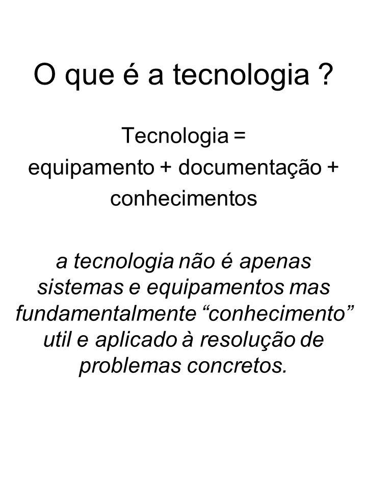 equipamento + documentação +