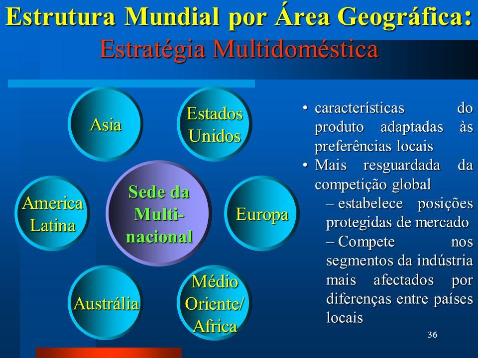 Estrutura Mundial por Área Geográfica: Estratégia Multidoméstica
