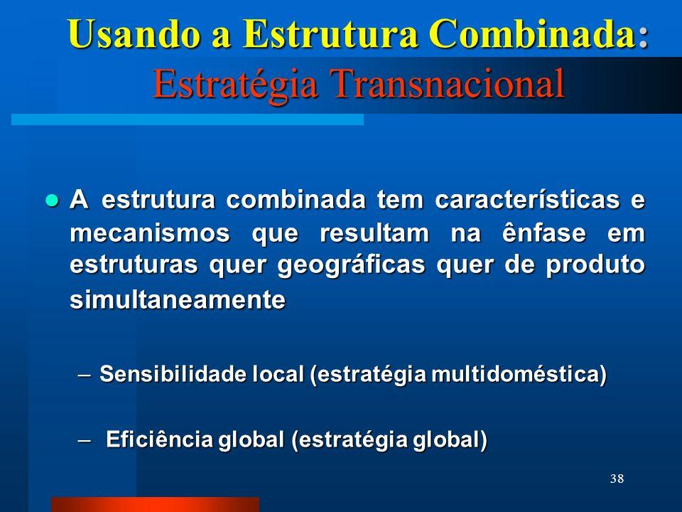 Usando a Estrutura Combinada: Estratégia Transnacional