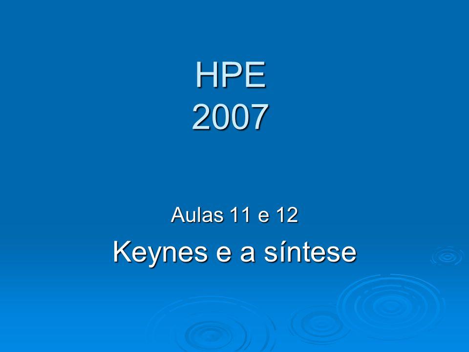 Aulas 11 e 12 Keynes e a síntese